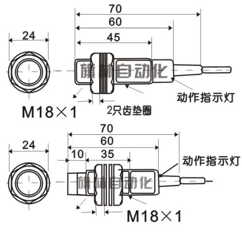 【m18电容式接近开关 可以检测水