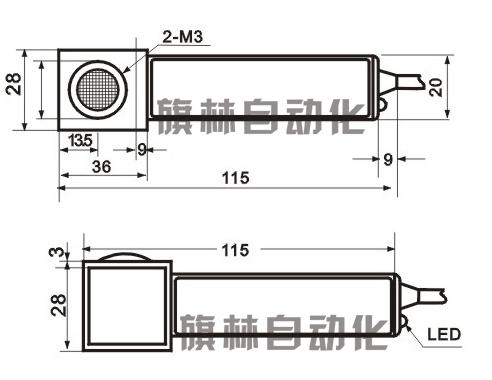 漫s6-1c-90反射光电开关接线图